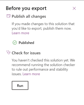 Check for issues