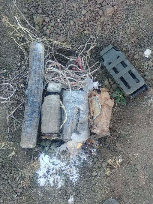 Hakurk'ta PKK'ya ait EYP düzeneği ve antipersonel mayını ele geçirildi