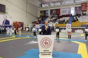 Türkiye Gençler Tekvando Şampiyonası için seremoni düzenlendi