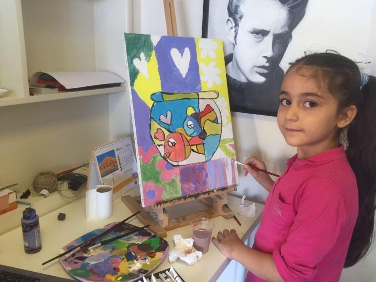 Çocuklar için resim dersi