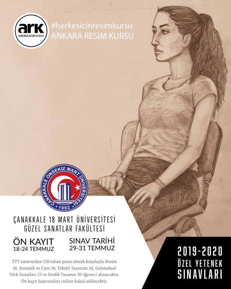 Çanakkale 18 Mart Üniversitesi Güzel Sanatlar Fakültesi 2019-2020 Özel Yetenek Sınavı