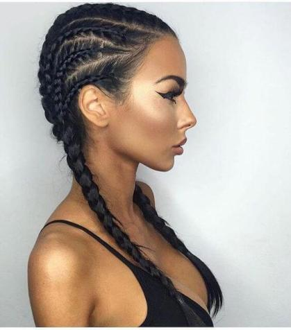 Side Fishtail Braids for Black Hair