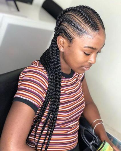 Best Way to Rock Feed In Braids this Season