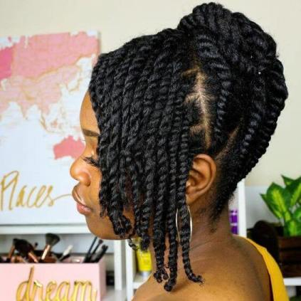 39+ Best Flat Twist Hairstyles for Black Natural Hair To Try