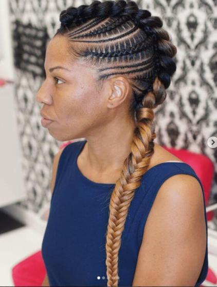 Feed-in braids with color