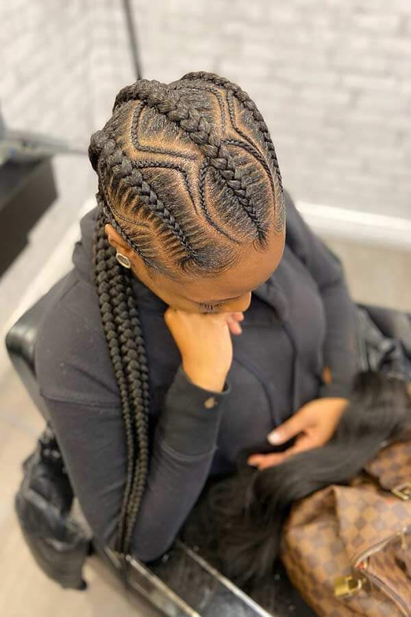 Stylish Cornrow Braids styles 2021
