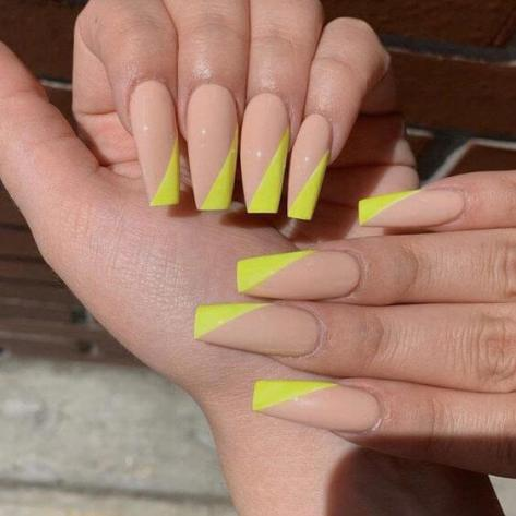 26 perfect neon yellow nails ideas for summer 2020