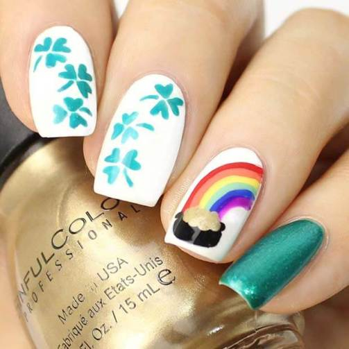 23 Best Shamrock Nail Art Designs For St Patrick's Day Nails