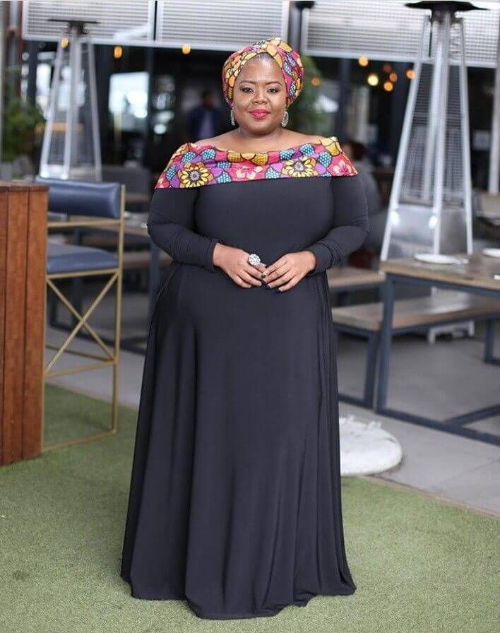 23 Latest Shweshwe Styles for Plus Size To Wear In 2021
