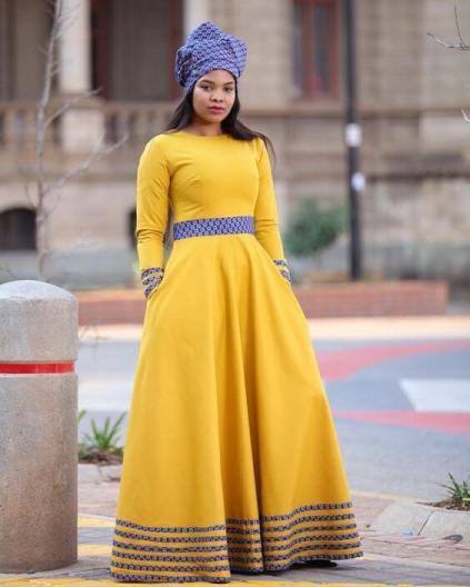 25 Amazing Shweshwe Dresses 2021 For South Africa Ladies