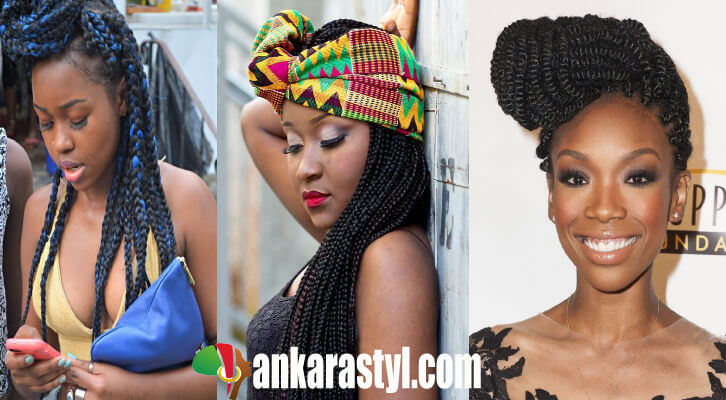 39 Best and Lovely Box Braids Ponytails 2020 for Black Girls
