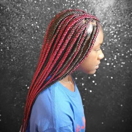 Cute Red Twists Braids Hairstyles