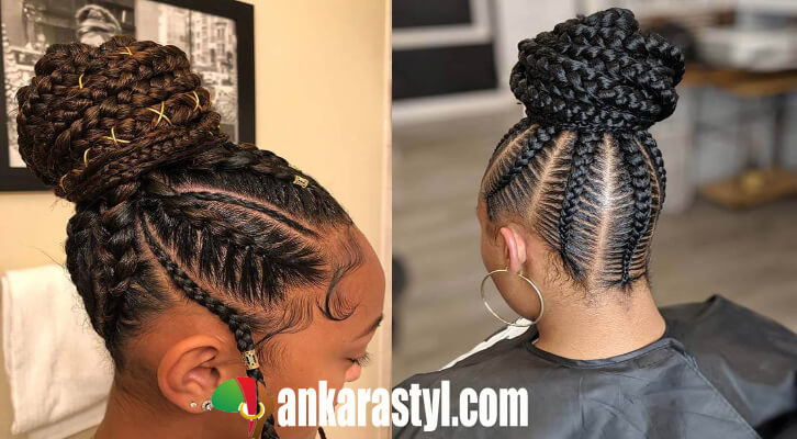 Marvelous 24 Stunning Cornrow Hairstyles Updos 2020 To Copy Natural Hairstyles Runnerswayorg