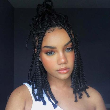 37 Amazing Chunky Bob Box Braids Hairstyles For African Girls