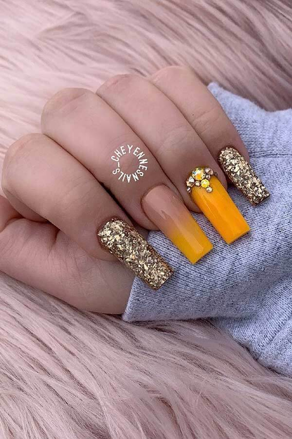 29 Awesome Tapered Square Acrylic Nails To Copy In 2021