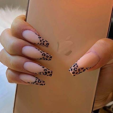 Matte Leopard nail Tips