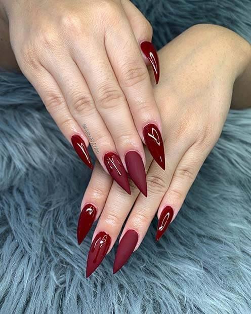 Wear Maroon Nails For upcoming fall and winter seasons