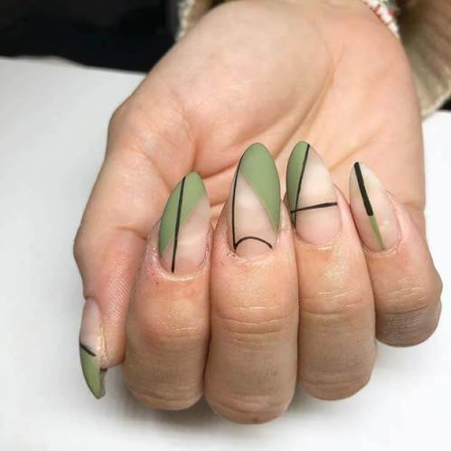 26+ Unique Olive Green Nails Ideas 2020 Perfect To Copy