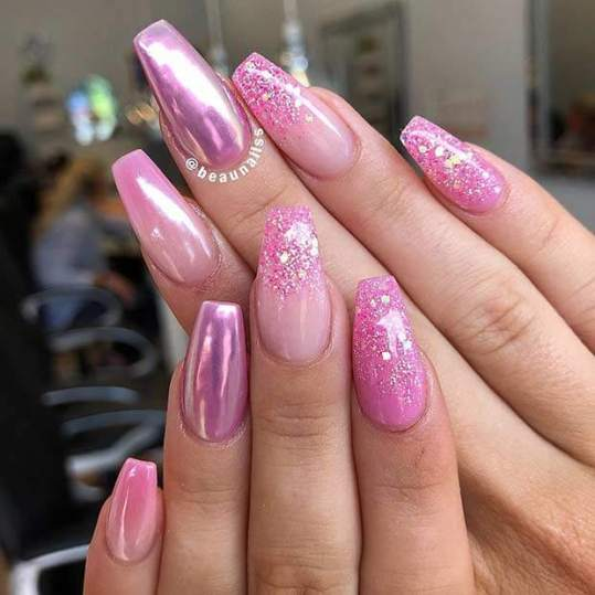 Pink Ombre Nail Art Ideas For Best Manicures