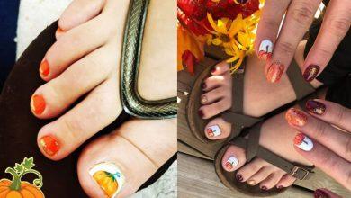 23 Latest Pumpkin Toe Nail Art Designs To Be Glam