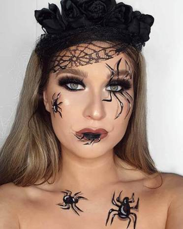 22 Creepy Spider Makeup Ideas for Last Minute Halloween Events