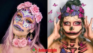 Last Minute Sugar Skull Makeup