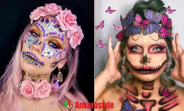 Last Minute Sugar Skull Makeup