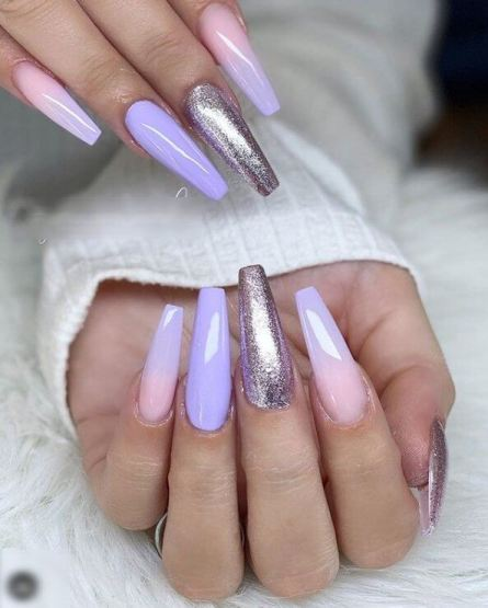 Ombre Lilac Nails