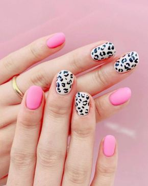 Pink and Hopey nails