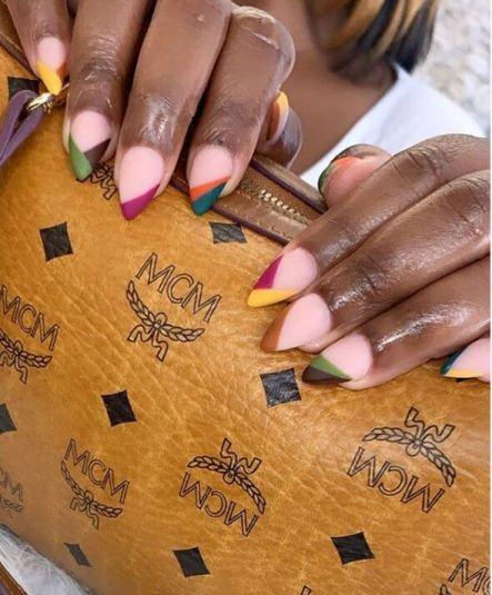 Colorful Matte Acrylic Nails