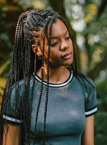 Medium Knotless Braids