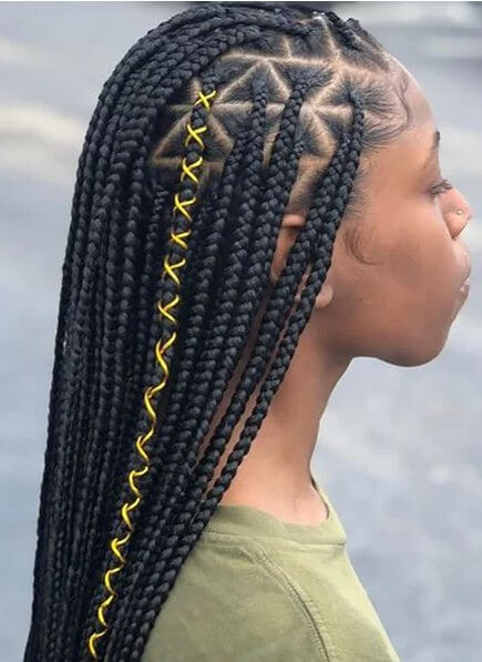 Triangle Knotless Braids