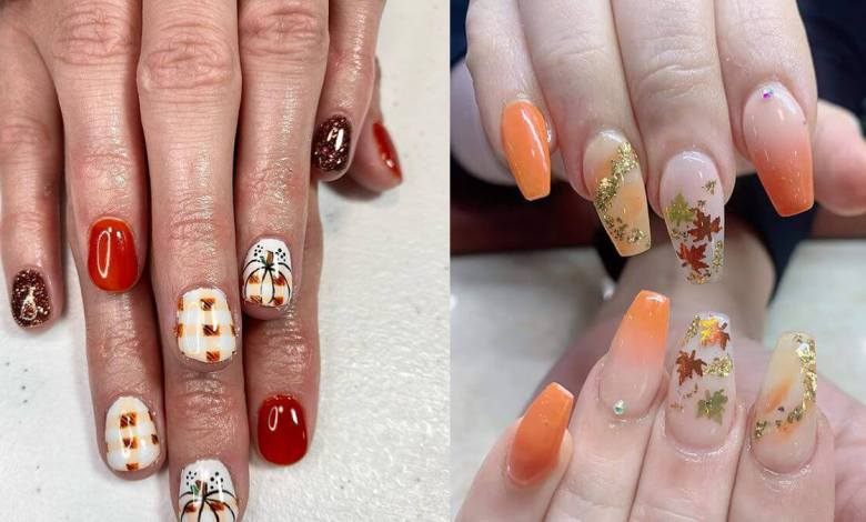 26+ Cute Thanksgiving Nails Art To Be Ready Now