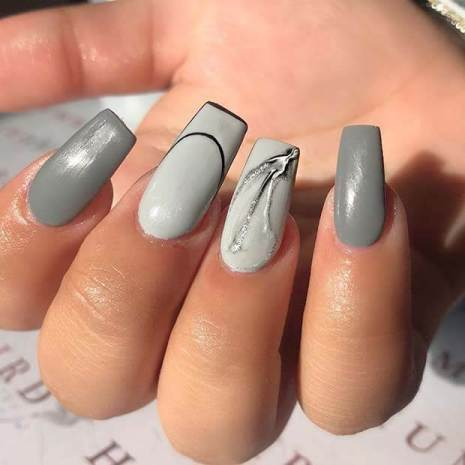 23 Awesome Grey Nails Ideas to DIY in 2021