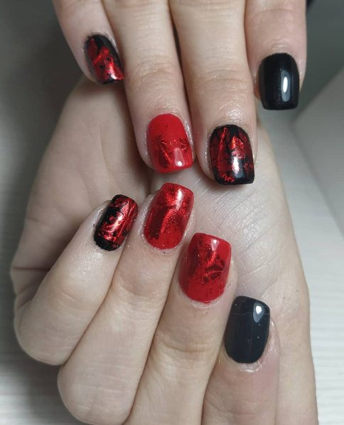 26+ Black Nails With Red to Be Awesome in 2021