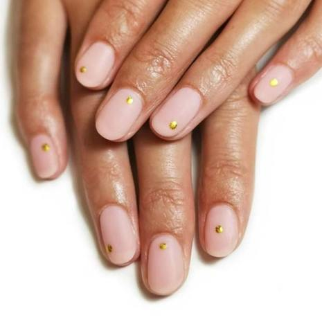 Matte Nails with Gold