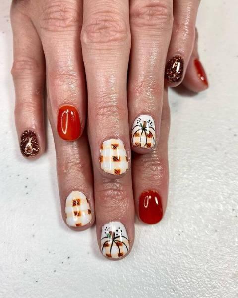 pumpkins Nail Art