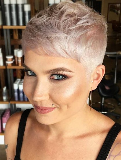 Bleached Super Short Hairstyle