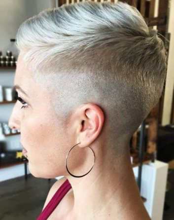Low Fade for Pixie Cut