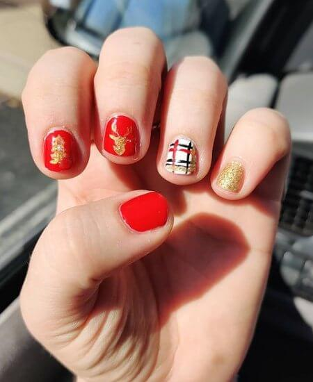 Red and Gold Design