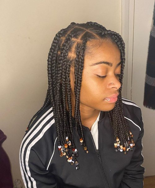 Box Braids With Beads