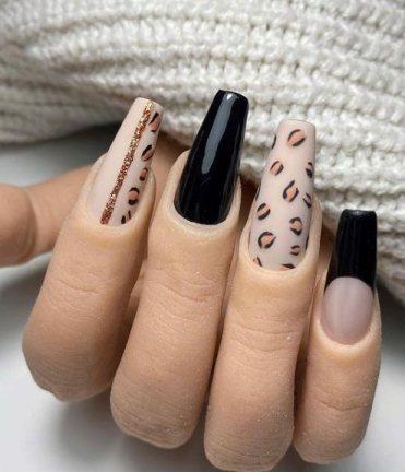 Leopard print nail ideas