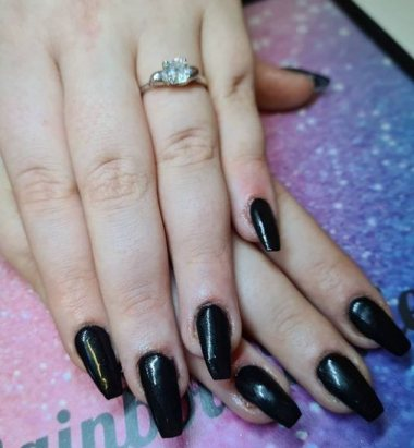 black Coffin nails