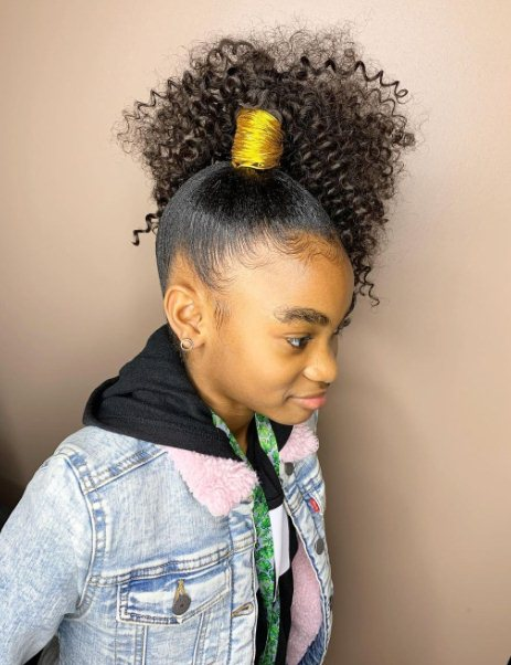 Kids hairstyles in a ponytail