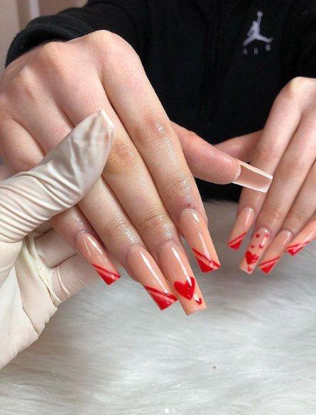 7. Pastel Hearts Nails