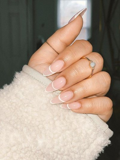 7. Long Almond Nails