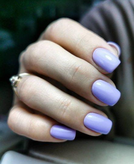 Light blue manicure