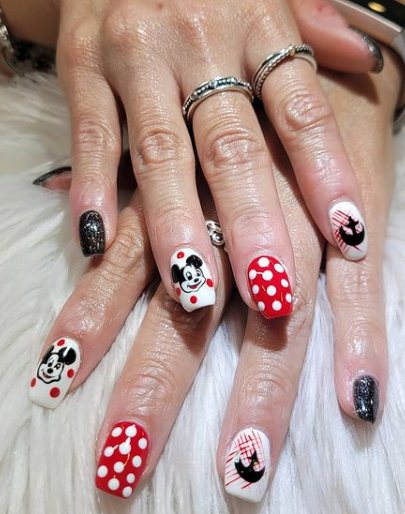 4. Mickey Mouse Nails