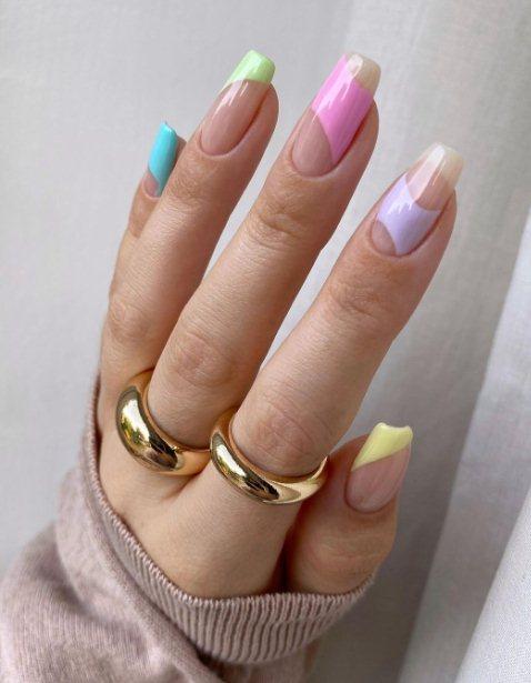 Nude Pastel Nail Design