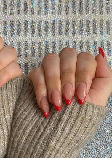 13. Ombre Long Almond Nails